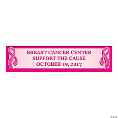 Personalized Small Pink Ribbon Tent Vinyl Banner