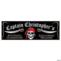 Personalized Small Pirate Vinyl Banner
