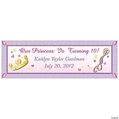 Personalized Small Princess Vinyl Banner