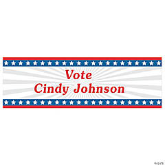 Personalized Small Stars & Stripes Vinyl Banner