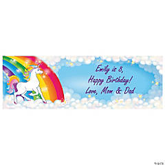 Personalized Small Unicorn Vinyl Banner