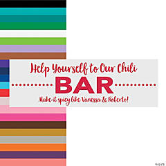 Personalized Small Wedding Bar Vinyl Banner