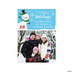 Personalized Snowman Christmas Cards