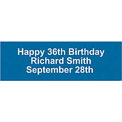 Personalized Solid Blue Banner - Medium