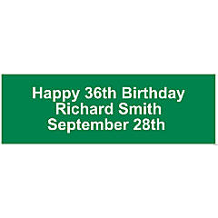 Personalized Solid Green Banner - Medium