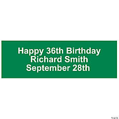Personalized Solid Green Banner - Small