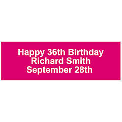 Personalized Solid Hot Pink Banner - Medium