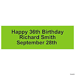 Personalized Solid Lime Green Banner - Small