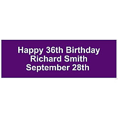 Personalized Solid Purple Banner - Medium