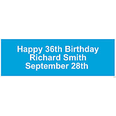 Personalized Solid Turquoise Banner - Medium