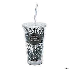 Personalized Sparkling Nights Tumbler with Lid & Straw