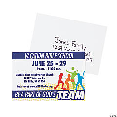 Personalized Sports VBS Postcards