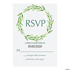 Personalized Spring Greenery Response Cards