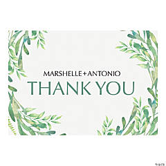 Personalized Spring Greenery Thank You Cards