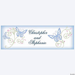 Personalized Spring Wedding Banner - Small