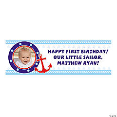 Personalized 1st Birthday Sailor Photo Banner