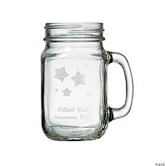 Personalized Stars Mason Jar Mug