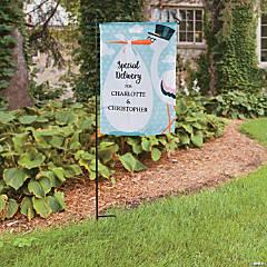 Personalized Stork Baby Shower Garden Flag