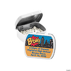 Personalized Superhero Mint Tins