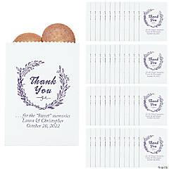 Personalized Thank You Laurel Leaf Cake Bag