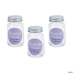 Personalized Thank You Mini Mason Jar Favors
