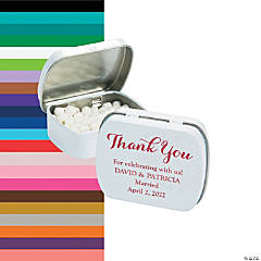 Personalized Thank You Mint Tins