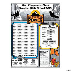Personalized The Highest Power Activity Sheets