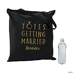 Personalized Totes Getting Married Black Tote Bag
