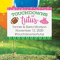 Personalized Touchdowns or Tutus Vinyl Yard Sign