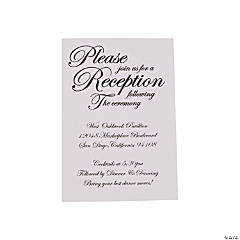 Personalized Traditional Script Wedding Reception Cards