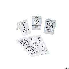 Personalized Traditional Table Numbers