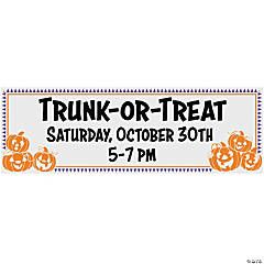 Personalized Trunk-or-Treat Vinyl Banner
