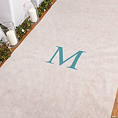 Personalized Turquoise Monogram Aisle Runner