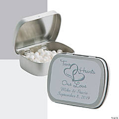 Personalized Two Hearts Mint Tins