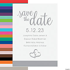 Personalized Two Hearts Save the Date Cards
