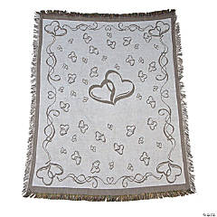 Personalized Two Hearts Wedding Throw
