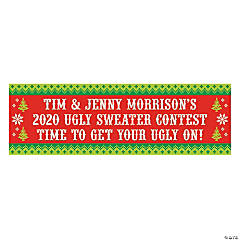 Personalized Ugly Sweater Vinyl Banners