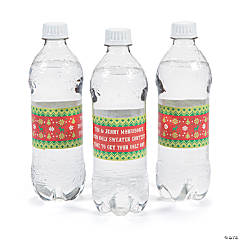 Personalized Ugly Sweater Water Bottle Vinyl Labels