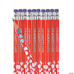 Personalized Valentine's Day Pencils