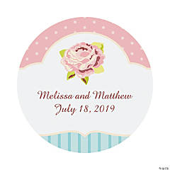 Personalized Vintage Collection Wedding Favor Stickers - 2