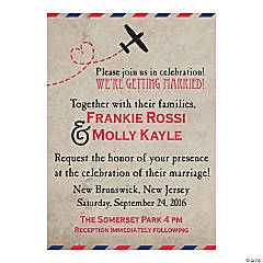 Personalized Vintage Postcard Wedding Invitations