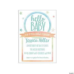 watercolor rainbow baby shower invitations