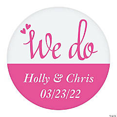 Personalized We Do Favor Stickers