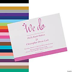 Personalized We Do Wedding Invitations