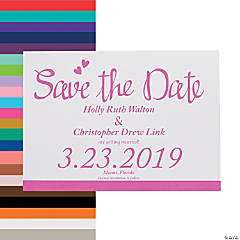 Personalized We Do Wedding Save The Date Cards