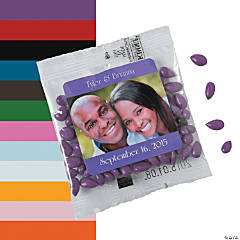 Personalized Wedding Candy-Coated Sunflower Seed Packs