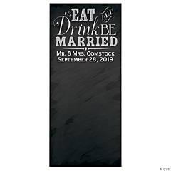 Personalized Wedding Chalkboard Photo Booth Backdrop