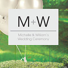 Personalized Wedding Initials Double-Sided Yard Sign