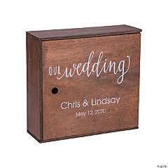 Personalized Wedding Keepsake Box with Lid