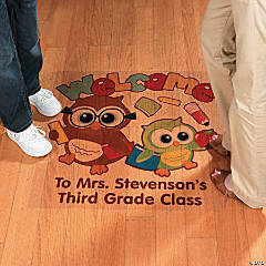 Personalized Welcome To Our Class Floor Decal